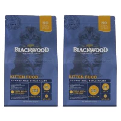 BlackWood 柏萊富 特調幼貓成長配方(雞肉+米)4磅 1.8公斤 X 2包