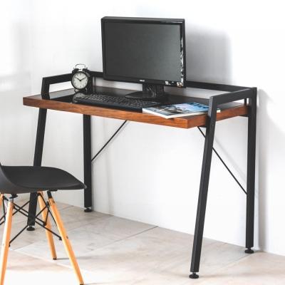 Home Feeling 電腦桌/工作桌/書桌/工業風強化玻璃-110x49X72cm