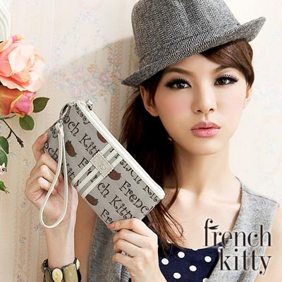 【FRENCH KITTY】閃耀璀璨-L-Letter系列零錢包-咖啡
