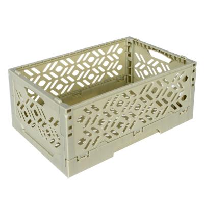 居家達人 創意摺疊式萬用收納盒/置物籃(灰綠)_2入