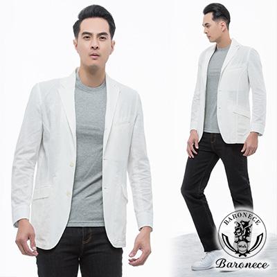 BARONECE-經典紳士休閒獵裝 白色(219631-10)