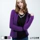 上衣 韓系鏤空長袖針織上衣(紫,米白,黑)L