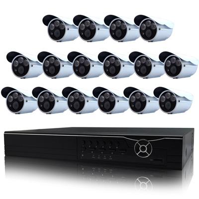 奇巧 16路AHD數位高清遠端監控套組(含雙模切換三陣列燈百萬攝影機x16)