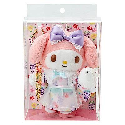 Sanrio 美樂蒂 6吋現代和服絨毛娃娃
