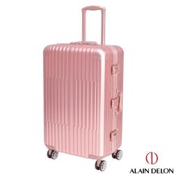 ALAIN DELON 亞蘭德倫 25吋 絕代風華系列鋁框行李箱/旅行箱 (粉紅)
