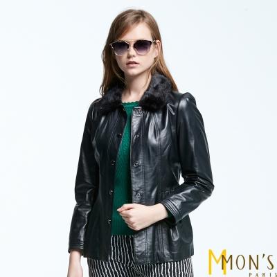 MONS-貂毛領羊皮外套