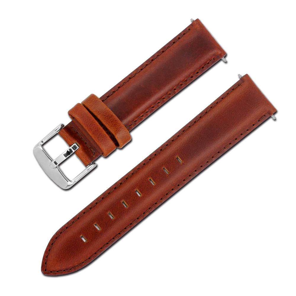 Watchband / DW Dapper 真皮替用錶帶-紅棕色