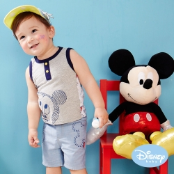 Disney Baby 印圖仿牛仔輕薄褲 藍色
