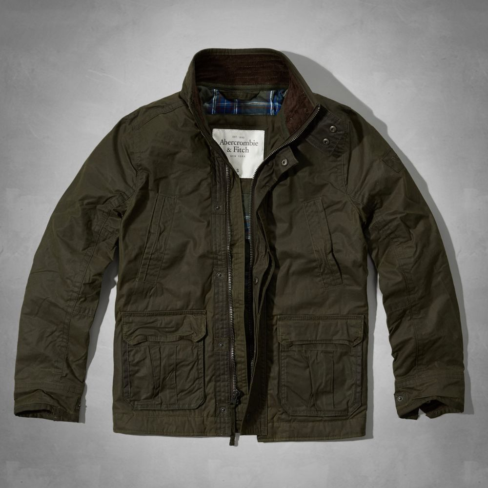 AF a&f Abercrombie & Fitch 外套 綠色 0245 product image 1