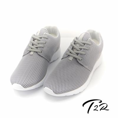 【T2R】韓國空運增高6cm空氣增高鞋-男  銀灰