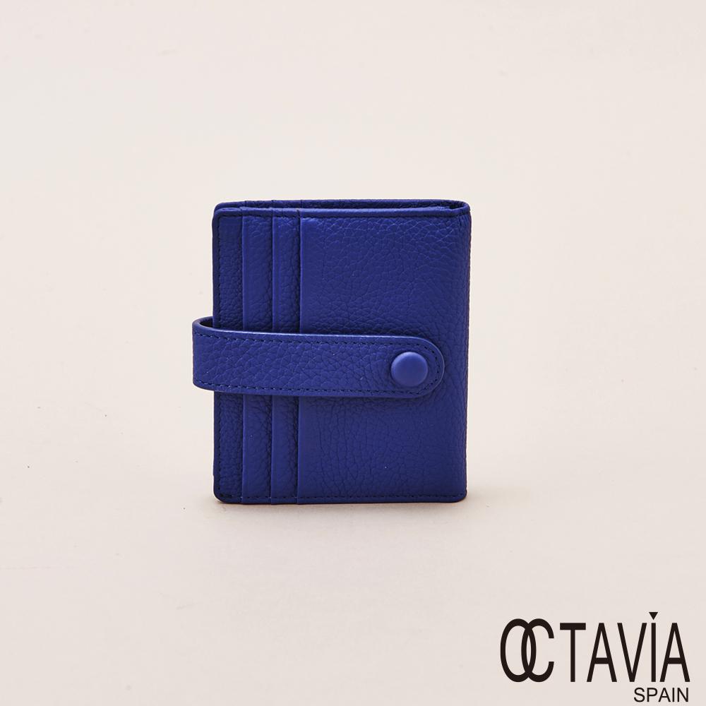 OCTAVIA天使的翅膀極薄式二折式卡片小短夾寶藍