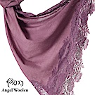 【ANGEL WOOLEN】印度手工法國蕾絲披肩圍巾(紫色依戀)