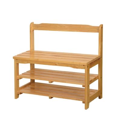 Bernice-可羅實木鞋架/穿鞋椅-75x33x69cm