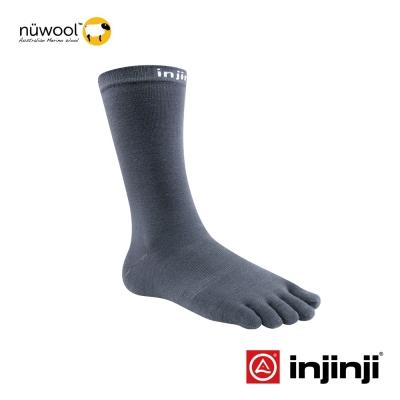 【Injinji】LINER羊毛中筒內襪-石墨色