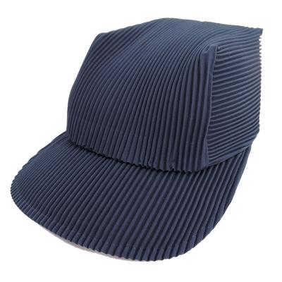 ISSEY MIYAKE 三宅一生PLEATS PLEASE褶紋鴨舌帽(午夜藍)