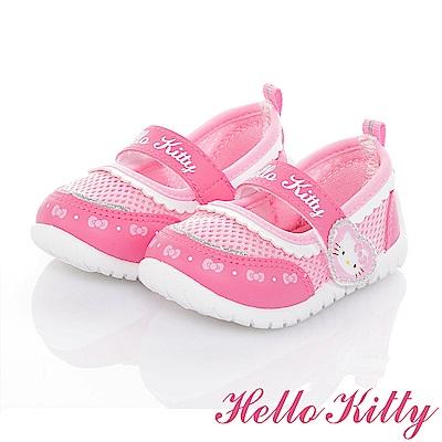 HelloKitty 輕量透氣抗菌防臭室內外娃娃童鞋-桃粉