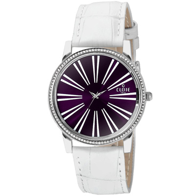 CLOIE 活力無限晶鑽時尚腕錶-紫/37mm