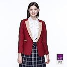 ILEY伊蕾 優雅配色西裝外套(紅)