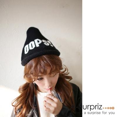 A-Surpriz OOPS精靈系毛線帽(酷黑)