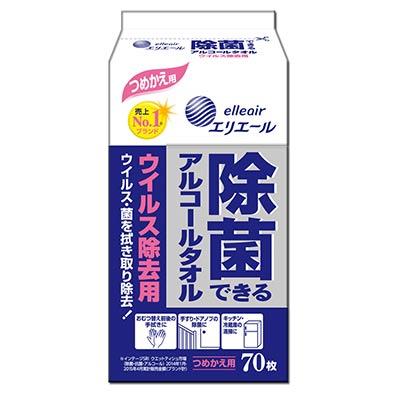 日本大王elleair抗菌濕紙巾補充包(加強版) 70抽