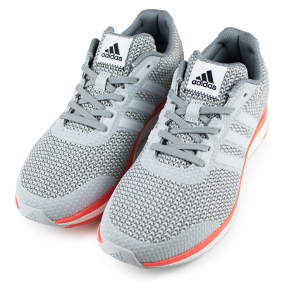 ADIDAS-LIGHTSTER BOUNC女慢跑鞋-灰橘白