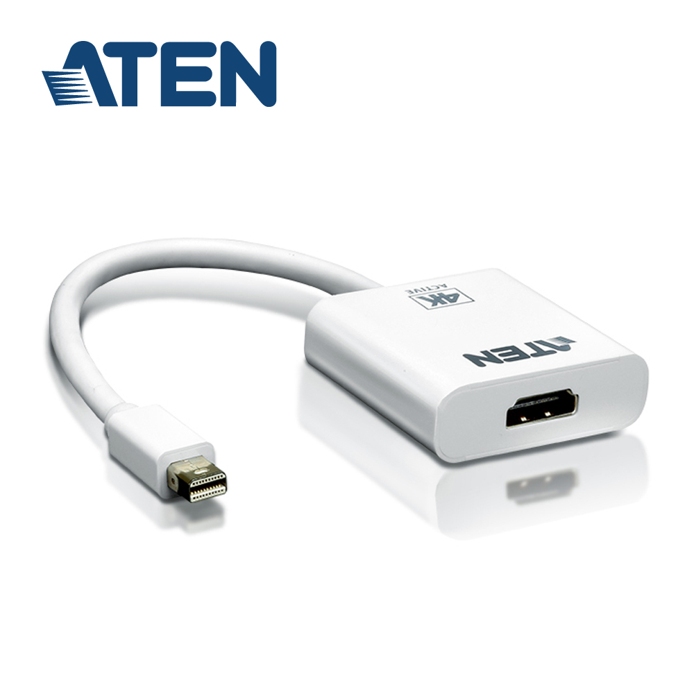 ATEN 4K Mini DisplayPort 轉HDMI主動式轉接器(VC981)
