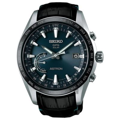 SEIKO精工 ASTRON GPS 鈦衛星定位太陽能腕錶(SSE115J1)-45mm
