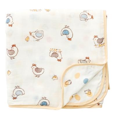 奇哥  竹纖維紗布紗布被-快樂小雞
