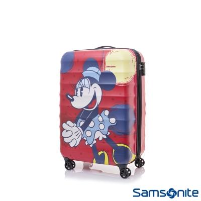 Samsonite新秀麗-Diseny-米妮聯名款20吋TSA-防刮登機箱-霧面紅