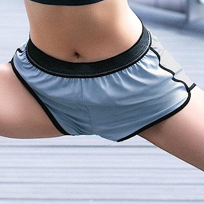 推EASY SHOP-RUN運動 運動型短褲(運動藍)