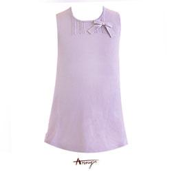 Anny素雅針織蝴蝶結背心洋裝*1271紫