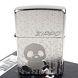 ZIPPO 日系~Metal Plate-貓熊/熊貓圖案貼飾加工打火機