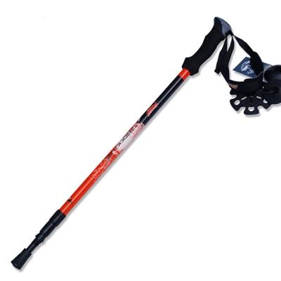 PUSH! 戶外休閒登山用品碳纖維3LS三節調整式登山杖 一入P64