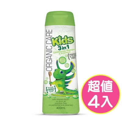 澳洲Natures Organics 植粹兒童泡泡洗髮沐浴露(Frenzy)400mlx4入