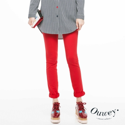 OUWEY歐薇-飽和亮彩九分褲-共2色