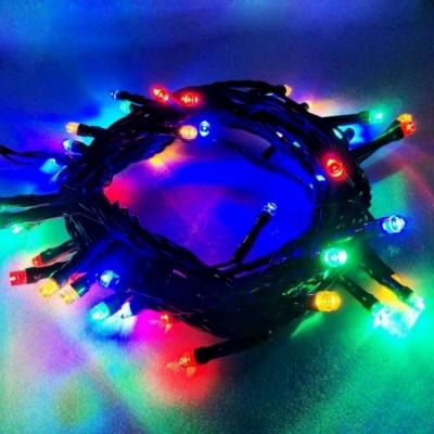 50燈LED燈串聖誕燈(四彩色光/綠線)(附控制器跳機)(高亮度又省電)