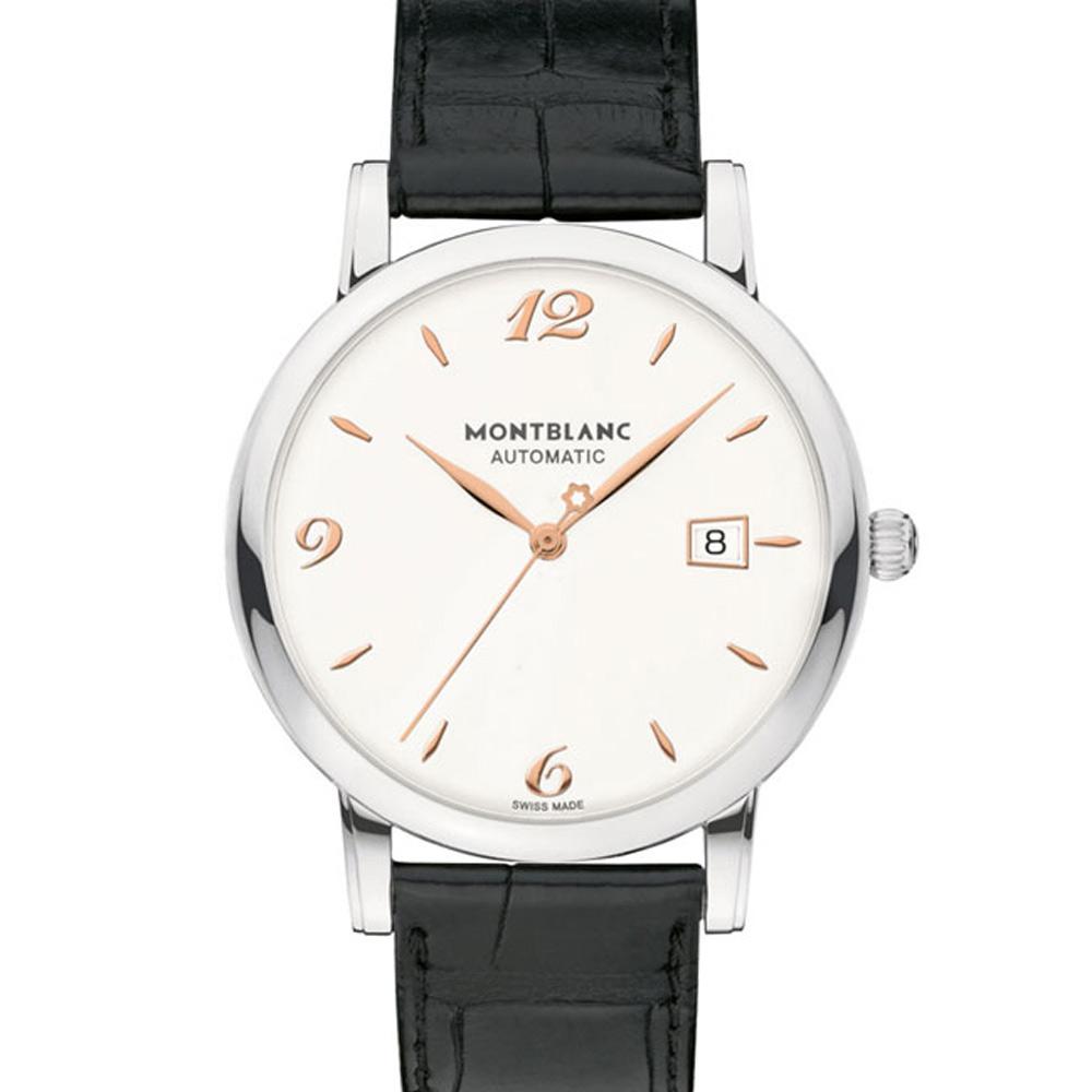 MONTBLANC 萬寶龍 STAR 110717三針經典日期自動腕錶-白面/39mm