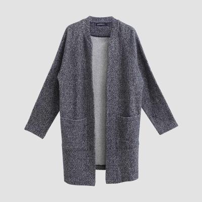 Hang Ten - 女裝 - 長版混色針織棉外套 - 灰