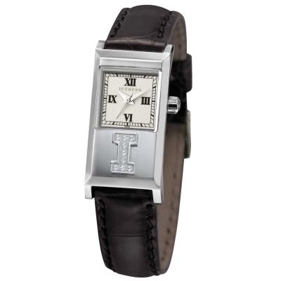 ICEBERG 冰山系列LOGO真鑽皮帶腕錶-白/20x36mm