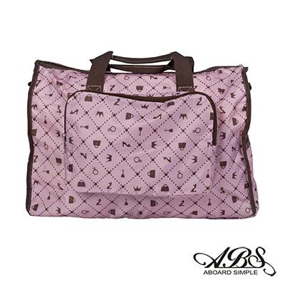 ABS愛貝斯 日本防水摺疊旅行袋 可加掛上拉桿(粉彩時尚)66-001D7