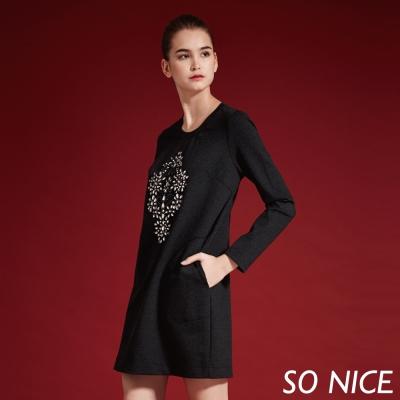 SO NICE閃耀亮鑽設計洋裝