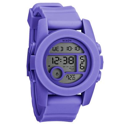 NIXON The UNIT 40 概念革命雙時區運動腕錶-紫/40mm