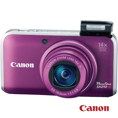 Canon PowerShot SX210 IS 紫色 福利品