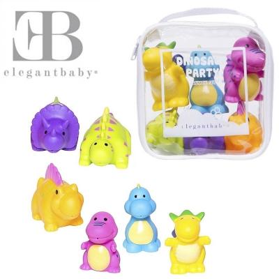 Elegant Baby 洗澡玩具6入組-恐龍派對