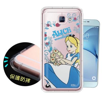迪士尼正版 Samsung Galaxy A8(2016) 花系列空壓安全手機殼...