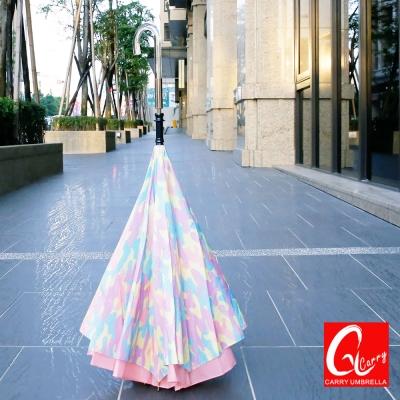 Carry巴黎時尚都會款 反向傘(不滴水)粉色【專利正品】