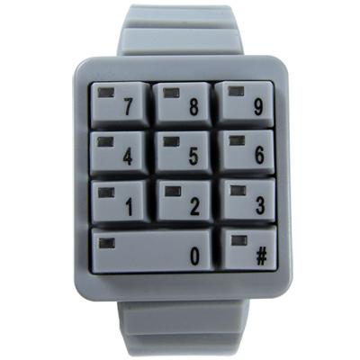 CLICK 創意爆破數字鍵盤個性腕錶-灰/40mm