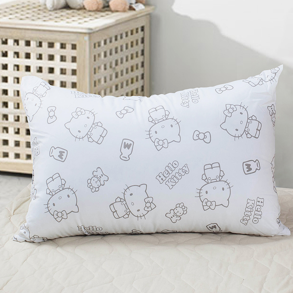 Hello Kitty 我的生活抗菌枕 2入 ( 灰)