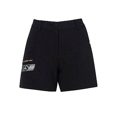FILA 女平織短褲-黑 5SHS-1465-BK