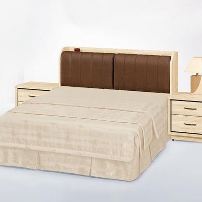 Bernice-塔柏5尺雙人床架床頭箱床底